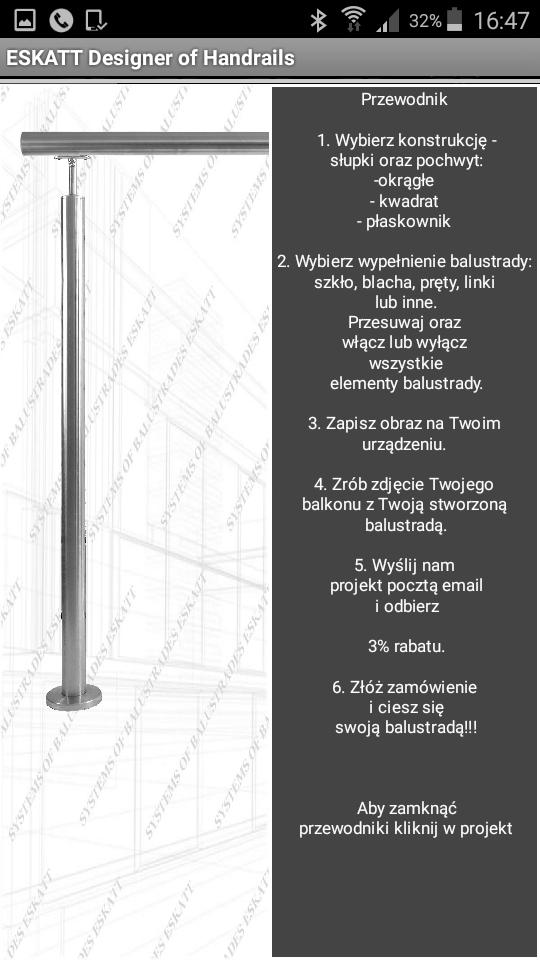 Program projektuj balustrady